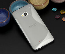 6 Colors TPU Gel Case for HTC One DUAL SIM CARDS 802W 802T 802D Cover + SP