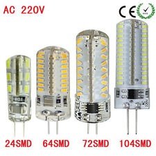 1xLed Silicon Lamp G4 3014 SMD AC 220V 1W 4W 6W 7W  Dimmable White Warm White