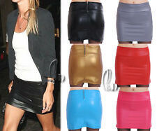 AU STOCK SEXY PU FAUX LEATHER STRECHY PUNK MINI SKIRT/BODYCON TUBE TOP DR125