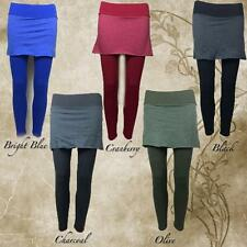 Soul Flower Eco-Friendly Soft Organic Cotton Skirted Yoga Leggings Choose Color