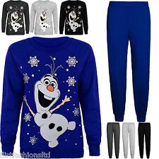 Womens Christmas Olaf Frozen Printed Cosy Tracksuit Warm Winter Jumper Trousers