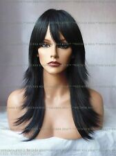 SALE  Razor Layers Long Feathered Tips Skin Centre Part  U Choose Colour Wig