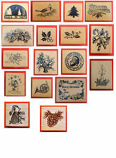 PSX Rubber Stamps Christmas - NEW A, B, C, D, E,  F, & G Series FREE SHIP