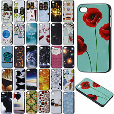 Fashion Various Pattern Black Frame Skin Hard Back Case Cover for Apple iPhone