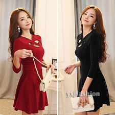 2014 Sexy Winter Fall Women Long Sleeve Bodycon Casual Cocktail Party Mini Dress