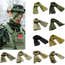 Tactical Multi Camouflage Army Scarf Veil Sniper Cover Neckerchief Fish Net Mesh
