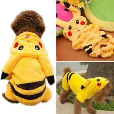 Cute Pikachu Pet Dog Warm Clothing Coat in Autumn Winter Clothes Costume Hoodie