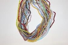 Glass Beads - 3 mm-Bi-cone-16 Faceted - Five (5) Strands - About 665 Beads
