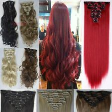 """US Clearance Fashion 26""""Mega Long Thick 8Wefts Clip in Hair Extensions Pieces TH"""
