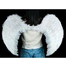 White Costume Feather Wings Fairy Angel Dove cosplay props Unisex For Christmas
