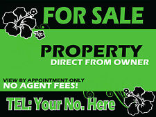 Custom FOR SALE / TO LET Estate Agent Boards - 2 Personalised Printed Signs