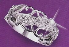 New Avon .925 Sterling Silver GENUINE DIAMOND Leaf Accent Ring - 5 6 7 8 9 10