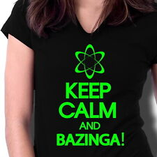 T-Shirt Keep Calm and Bazinga Big Bang Theory Sheldon Damen Penny XS S M L ..XXL