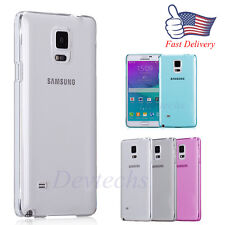 Ultra thin Soft TPU Silicone Gel Clear Cell Case For Samsung Galaxy Note 4