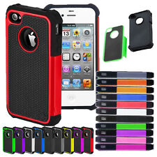 Hybrid Matte Rugged Hard Bumper Protective Skin Case Cover For Apple iPhone