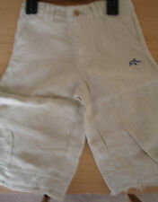 Boys Linen Trousers 3/4 length * BNWT ages 2- 6yrs, * Beige and Sand