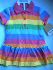 NWT CARTERS STRIPED SHORT SLEEVE COTTON DRESS  6 MONTHS SIZE