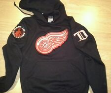 New Detroit Redwings Hooded Sweatshirt with 3 logos Embroidered