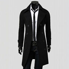 Crazy cheap Trench Coat Slim Winter Warm Long Jackets Double Breasted Outwear