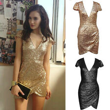 Fashion Women Glitter Bandage Bodycon Evening Sexy Party Cocktail Mini Dress