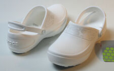 Crocs Womens MERCY Oil / Water Slip Resistant WORK Shoes White / Silver
