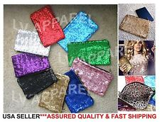 BEA142 Glitter Sequins Evening Purse Party Bag Prom Clutch Tablet Cosmetic Case
