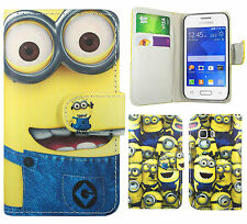Despicable Me 2 Minion Leather Wallet Case Cover For Samsung Galaxy Young 2 G130