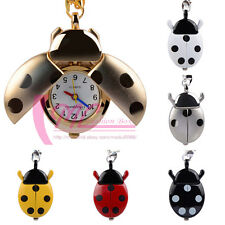 Christmas Gifts For Children Lovely Beetle Ladybug Necklace Watch Pocket Watches