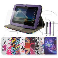 Tesco Hudl 7 Inch PU Leather Case Cover Stand With Screen Protector & Stylus