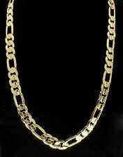 14kt Gold Finish Classic Figaro Link Style Miami Necklace Hip Hop Mens Chain 6MM