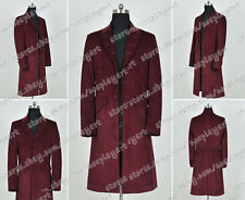 Who Buy Doctor The 4th Fourth Dr Tom Baker Cosplay Costume Red Long Trench Coat