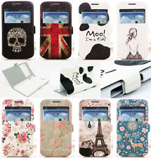 Fashion Vintage Window View Flip Leather Case For Sony/LG/Huawei/HTC/Google 6