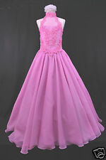 Girl National Pageant Wedding Party Prom Formal Dress 3,4,5 6 7-14 Fuchsia Pink