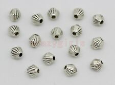 200/400pcs Tibet Silver prismatic Charm Spacer Beads Fit Jewelry Making 4x4mm