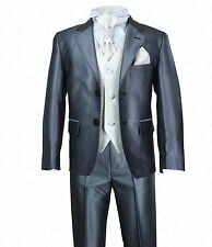 SIRRI Page Boys Wedding Suit in Silver Ivory Boys Wedding Suits