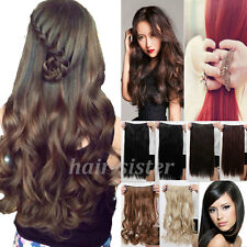 Maga thick Long Clip in on Hair Extensions Brown Black Red Blonde One Piece hs16