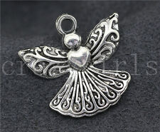 20/40pcs Zinc alloy nice Heart angel Jewelry Finding Charm Pendant 23x21mm