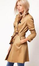 New Ladies Double Breasted Trench Coat Outerwear 2 Color