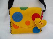 Yellow Spotty Bag /Taggies handmade in the style of Something Specials Mr Tumble