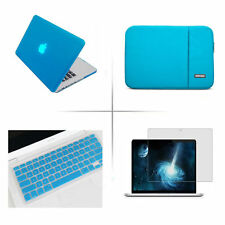 4in1 Rubberized Hard Case Sleeve bag keyboard cover LCD film for Apple Macbook