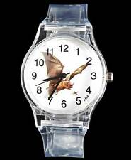 Bat Prey Men Women Transparent Sports Quartz Watch relojes reloj hombre relogio