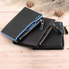 Men's Faux Leather ID credit Card holder Bifold Coin Purse Wallet Pockets HC