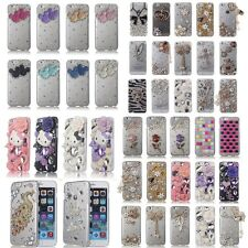 3D Bling Crystal Pearl Diamond Luxury Handmade Hard Case Cover For Apple iphone