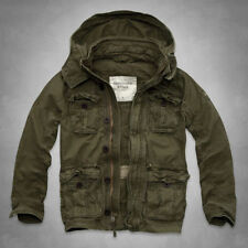 Abercrombie Fitch Mens Outerwear Jacket COAT Olive Green Military Parka