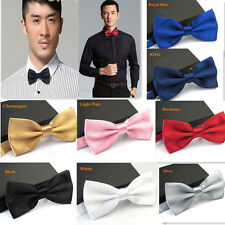 Fashion Tuxedo Classic Solid Color Butterfly Wedding Party Bowtie Adjustable