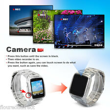 "1.54""Unlocked Touch Screen Wrist Watch Cell Phone Camera MP3 FM GSM Bluetooth"