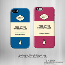 "iPhone 6 5 4 ""Tess of the d'Urbervilles"" Thomas Hardy book cover phone case 116"
