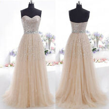 Sequins Long Formal Prom Dress Cocktail Party Ball Gown Evening Bridesmaid Dress