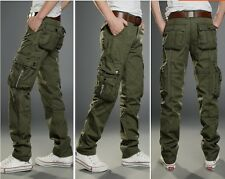 Mens Army Cargo Military Combact Work Pants Casual Muti-Pockets Comfort Trousers