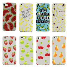 Hot Cute Fruit Collection Cherry Transparent Case Cover For Apple iPhone 5S 5C 6